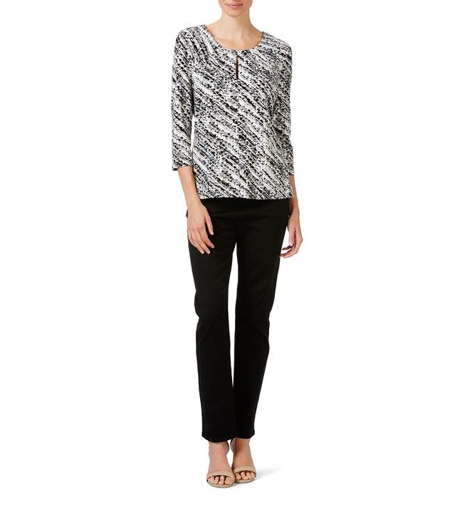 W.Lane Speckle Print Top