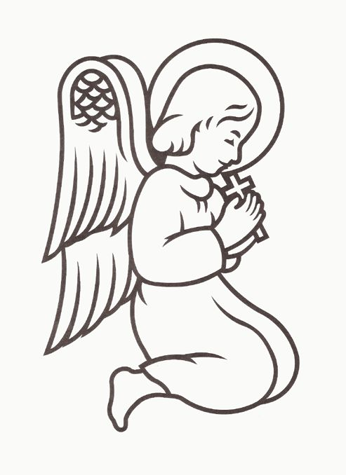 angel clipart for headstones - 493×678