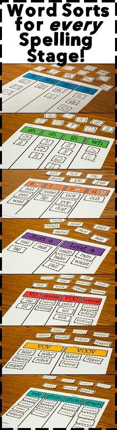 Implementing Words Their Way has never been easier with this bundle! You will get all the word sorts needed to teach word study at every stage. As always, these sets are NO PREP, just print the set and you have a sort to model and two student practice sheets ready to go. Use these sets for word study, during guided reading lessons or on their own. After students have done one with a teacher, they can use the sort as part of a literacy center as well!