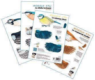 Mobiles oiseaux des mangeoires