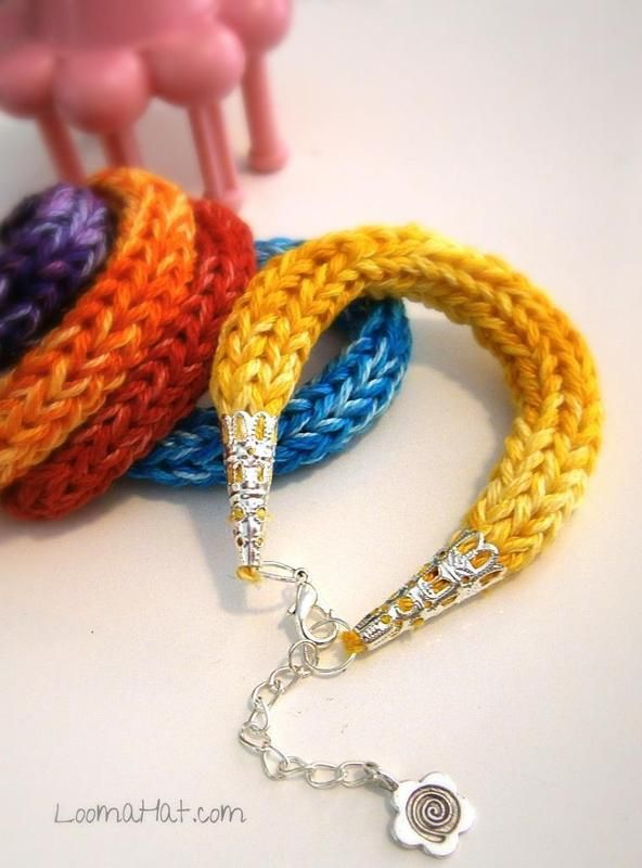 How to Making Loom Bracelets   Knit Friendship Bracelet ∙ How To by Mission Bound Creations on Cut ...