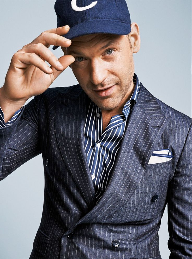 Corey Stoll Dons Remixed Pinstripe Suiting Styles for GQ image Corey Stoll August 2014 GQ Photos Pinstripe Styles 001 800x1078