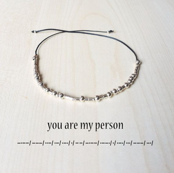 You are my person Morse Code Bracelet Morse code by GLIAJEWELRY