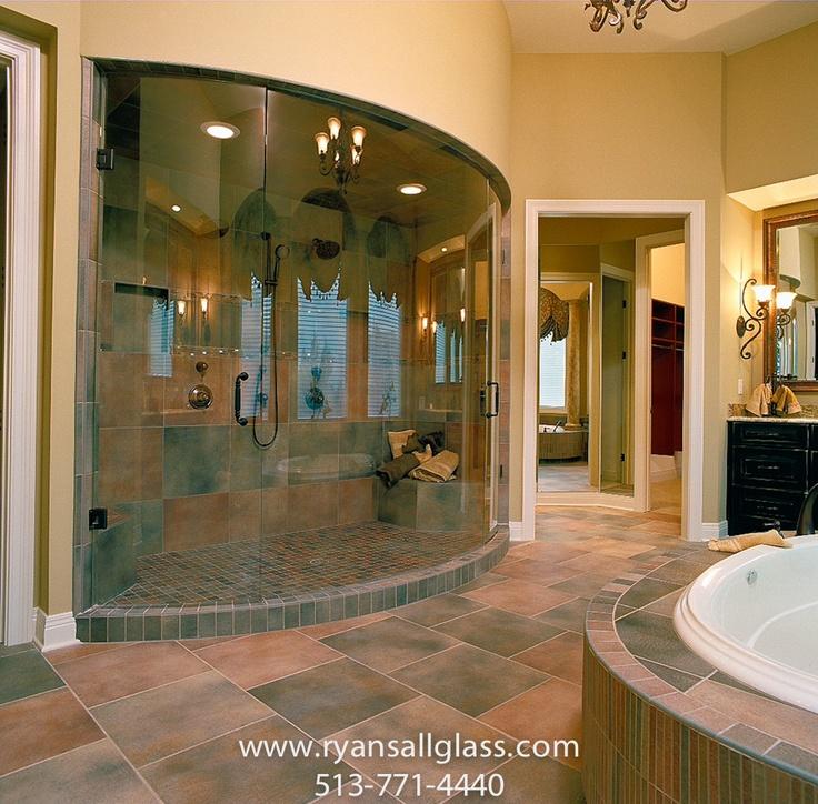 22 best shower enclosures images on pinterest glass for Bath remodel cincinnati