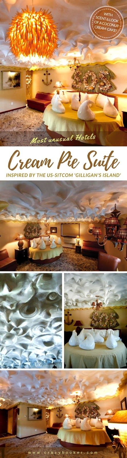 Robinson island themed hideout in New York state, inspired by a tasty coconut cream pie