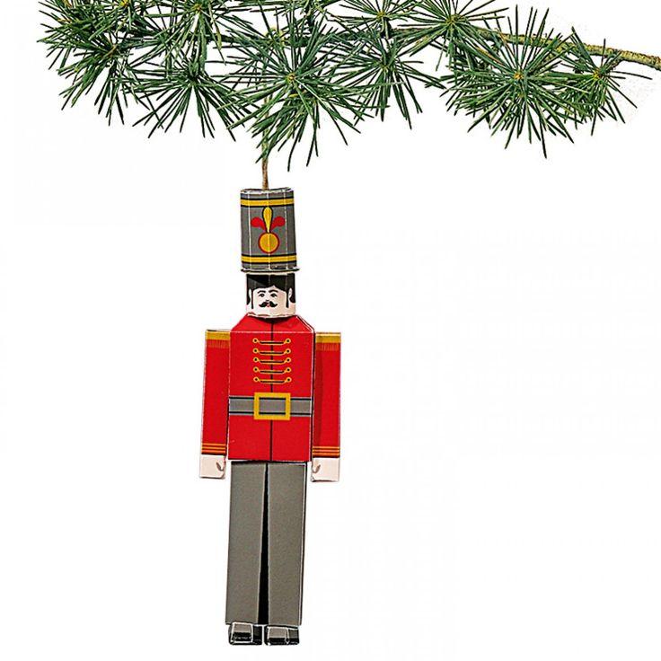 Un petit soldat de papier à suspendre dans le sapin de Noël