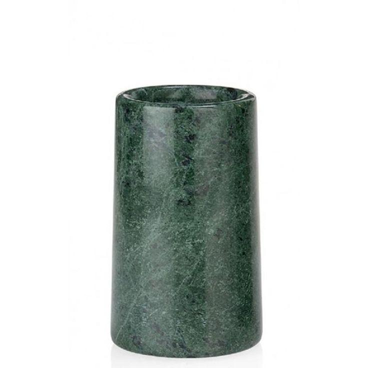 Distributeur De Savon En Marbre Vert Et Métal Doré – Taille : Taille Unique