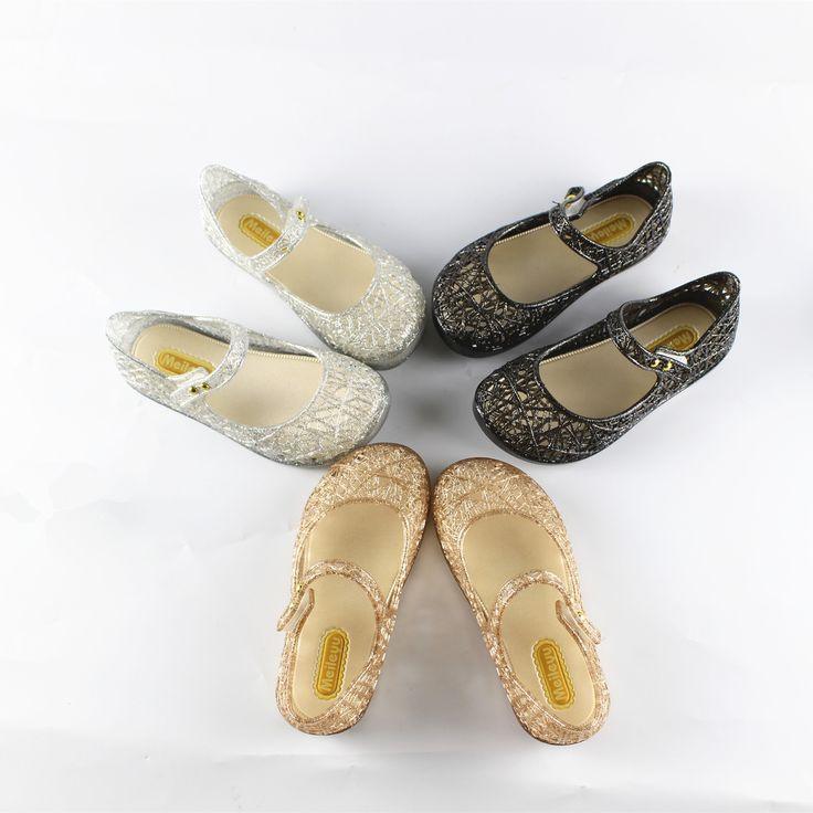 Mini melissa zapatos de cristal 2017 nuevas muchachas de los niños zapatos del agujero de malla melissa zapatos de la jalea sandalias cristalinas de los zapatos para las niñas 15-18 cm