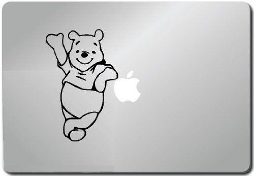 Pooh Leaning Computer Skin Apple Sticker Laptop Sticker Macbook Decal Compute...