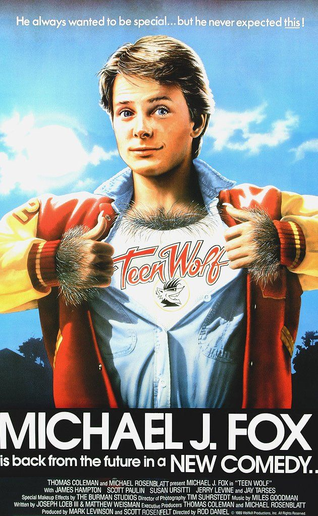 TEEN WOLF: Directed by Rod Daniel.  With Michael J. Fox, James Hampton, Susan Ursitti, Jerry Levine. A struggling high school student with problems discovers that his family has an unusual pedigree when he finds himself turning into a werewolf.