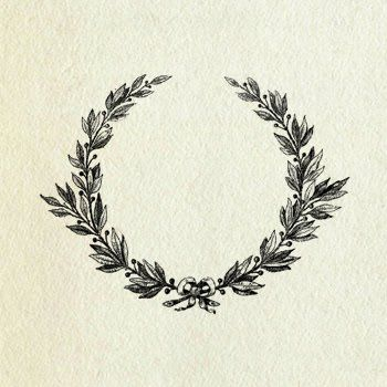 Love this   Laurel wreath: traditional symbol of victory, recognition, and reward. Idea stolen from @ Taylor Woodford