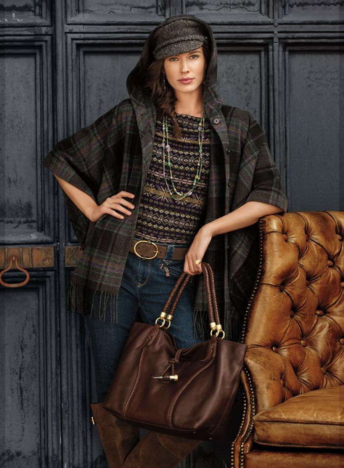 An equestrian inspired look from the Lauren fall collection.