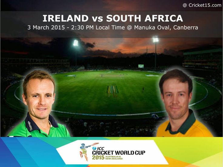 vs South Africa ( World Cup 2015 Match on Wed March and timings are in  McLean Park, Napier at local time GMT)