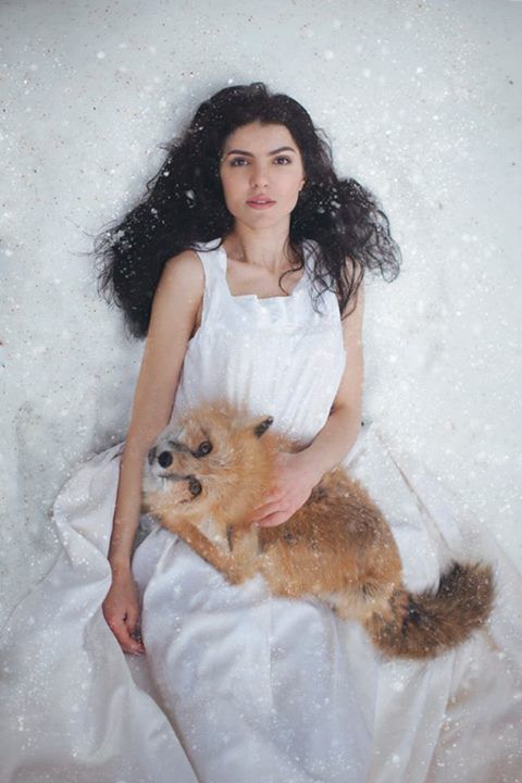 """""""Works by Russian photographer Katerina Plotnikova, who is based in Moscow. Some of her most evocative photographs are these images of forest nymph-like young women interacting with wild animals."""""""