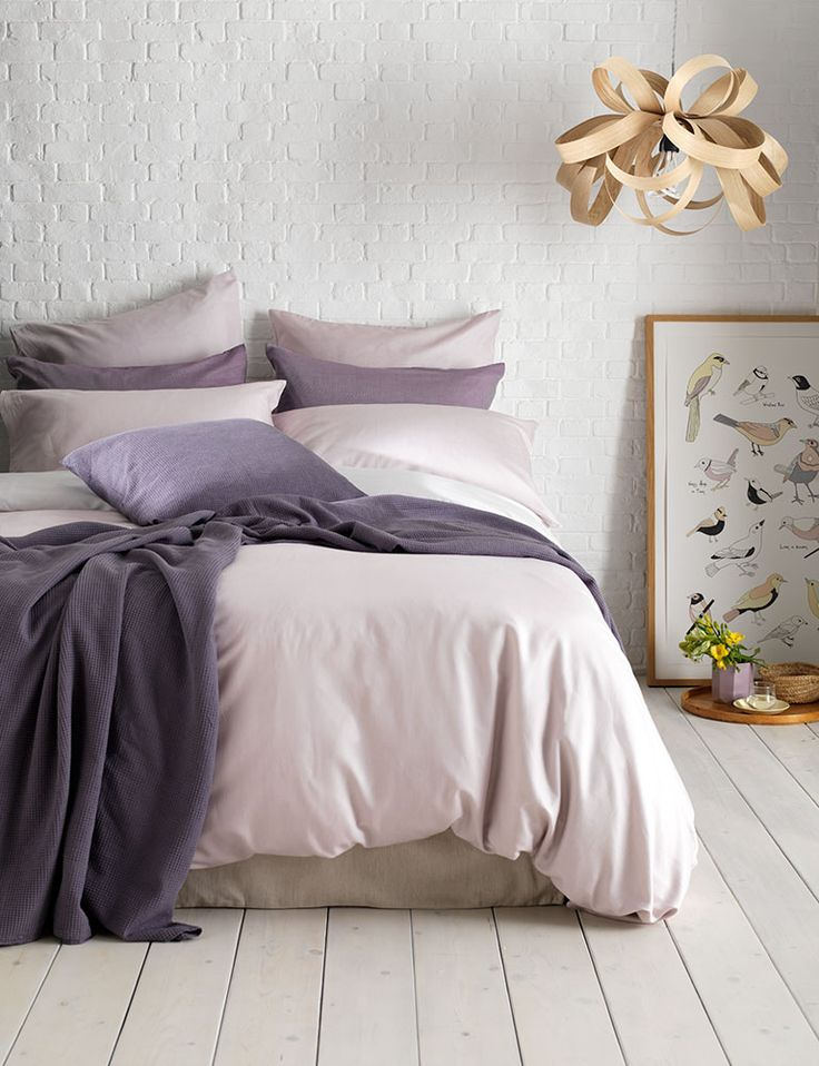 Soft rose coloured bed linen range, made from 100% Cotton, and with a subtle twill weave.