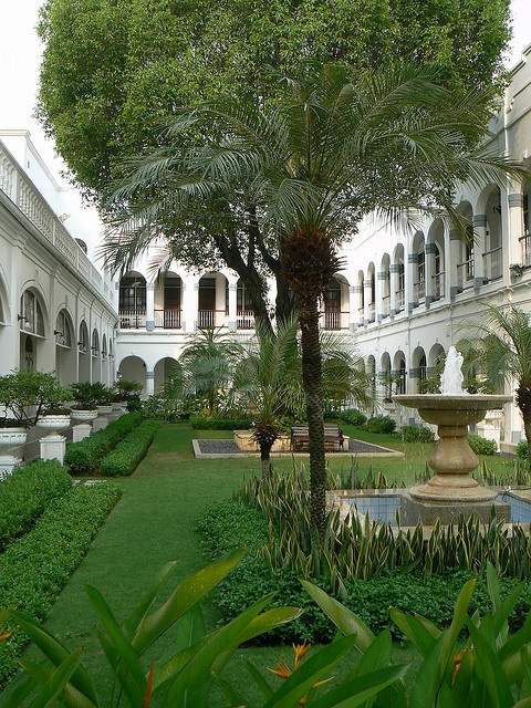 Gardens and courtyard at the Hotel Majapahit Surabaya Indonesia by adrienne_bartl, via Flickr