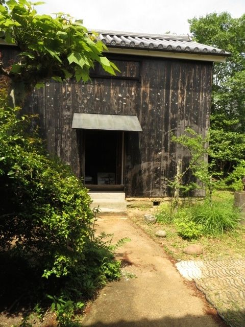 This is the barn in which Minakata Kumagusu did his bacterial study as a scientist.