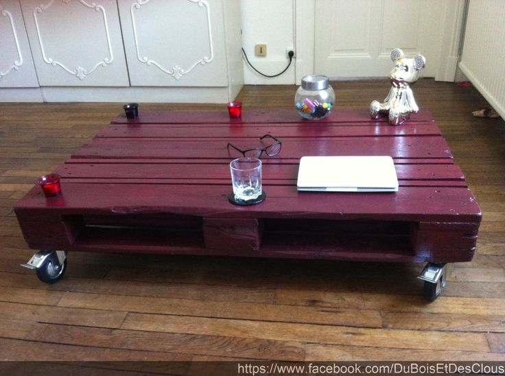 Table basse industriel palette bois : Meubles et rangements par duboisetdesclous