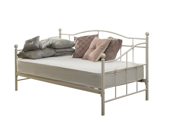 Venice Single Day Bed 3ft Ivory White(off White): Amazon.co.uk: Kitchen & Home