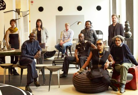 Some of the DNA designers at the Graphic Africa exhibition during London Design Festival