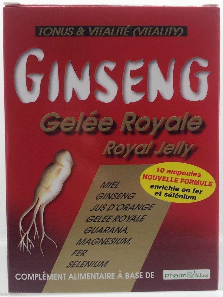 Pharma & nature ginseng gelée royale 10 ampoules tonus et vitalité in Bien-être | eBay