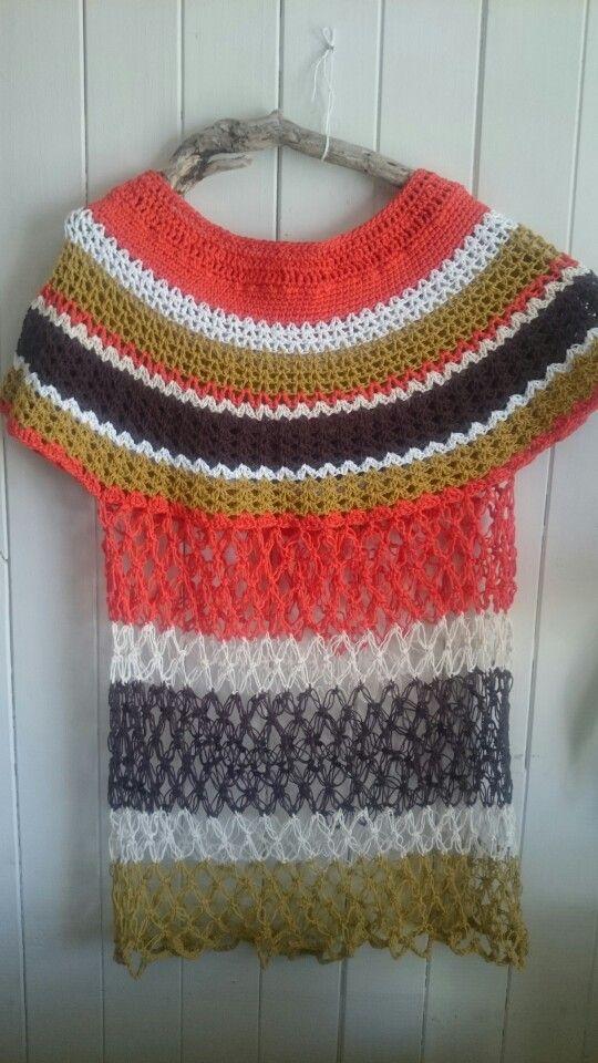 Polera tejida a crochet en algodón!!!