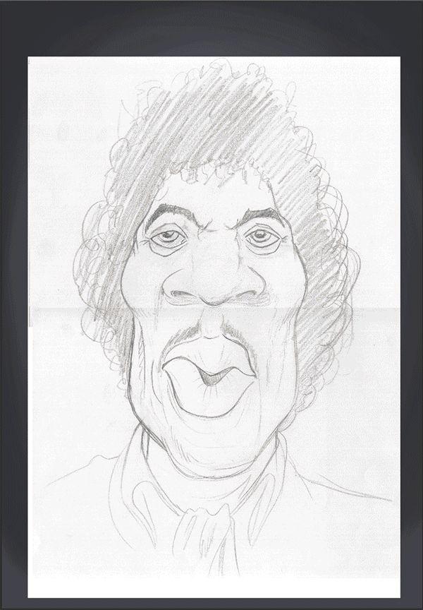 Jimi Hendrix art | decor | wall art | inspiration | caricatures | home decor | idea | humor | gifts