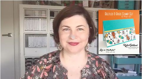 Kylie Bertucci - Live Facebook Video! See how Kylie made this adorable boys card with the Beetles and Bugs stamp set by Stampin' Up!