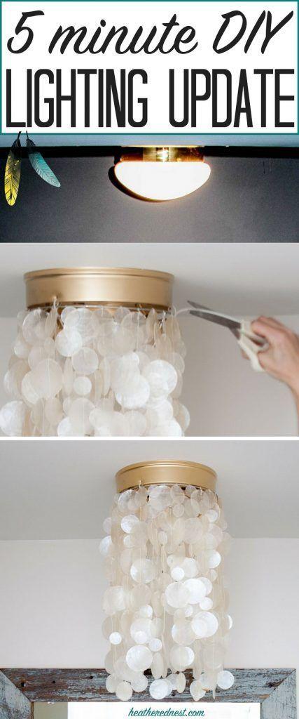 Mason Jar Flush Mount Light Part - 41: 2 DIY Light Fixtures/Tutorials To Modernize BOOB Light Flush Mounts! BAN  THE BOOBS