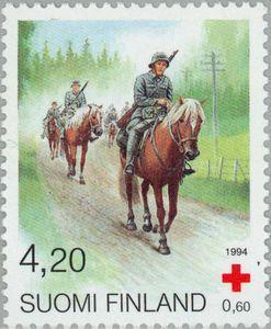 Finland Stamp - Cavalry horses