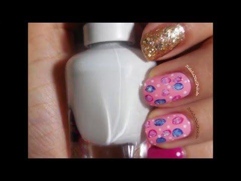 أسهل طريقة لرسم الورود على الاظافر - تفاحة -  NAIL ART ROSE- TOFAHA