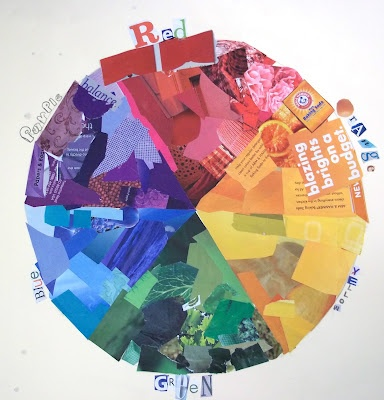colour wheel collage