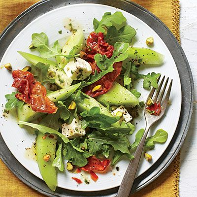 Melon and Crispy Prosciutto Salad | Build the base of this sweet ...
