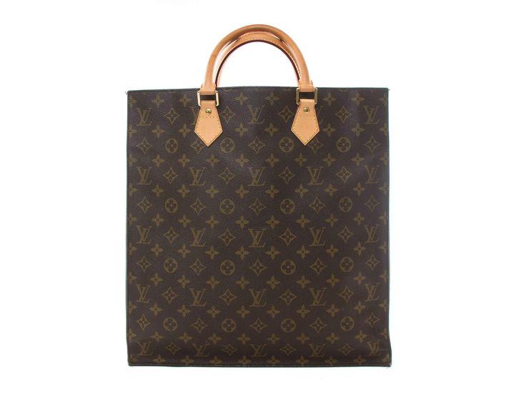 Authentic Louis Vuitton Monogram Sac Plat tote M51140