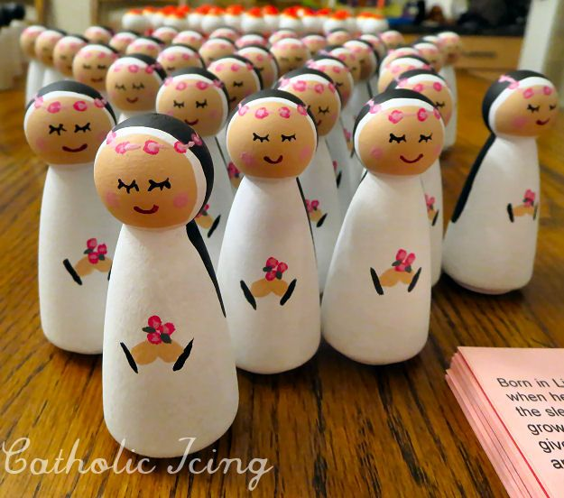 st. rose of lima catholic saint peg doll