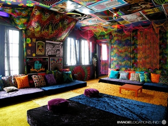 hippie: Rooms Idea, Hippie Bedrooms, House Design, Living Rooms, Color House, Beaches House, Decoration, Chill Rooms, Dream Rooms
