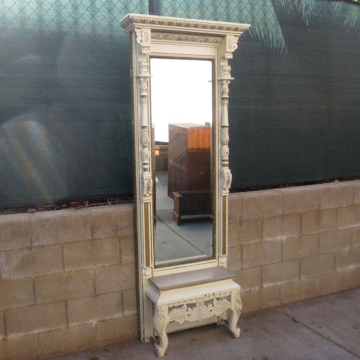 American Antique Victorian Hall Mirror Antique Wall Mirror Antique Furniture