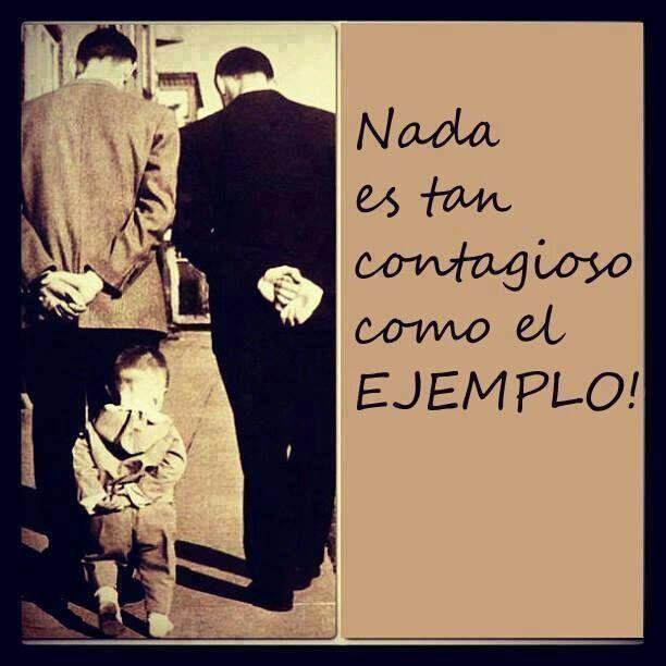Porque nada es tan contagioso cómo el ejemplo, felicidades papás!!