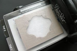 Double Embossing Tutorial.    Emboss only the outer edges of your cardstock, leaving the inner part smooth to stamp on.