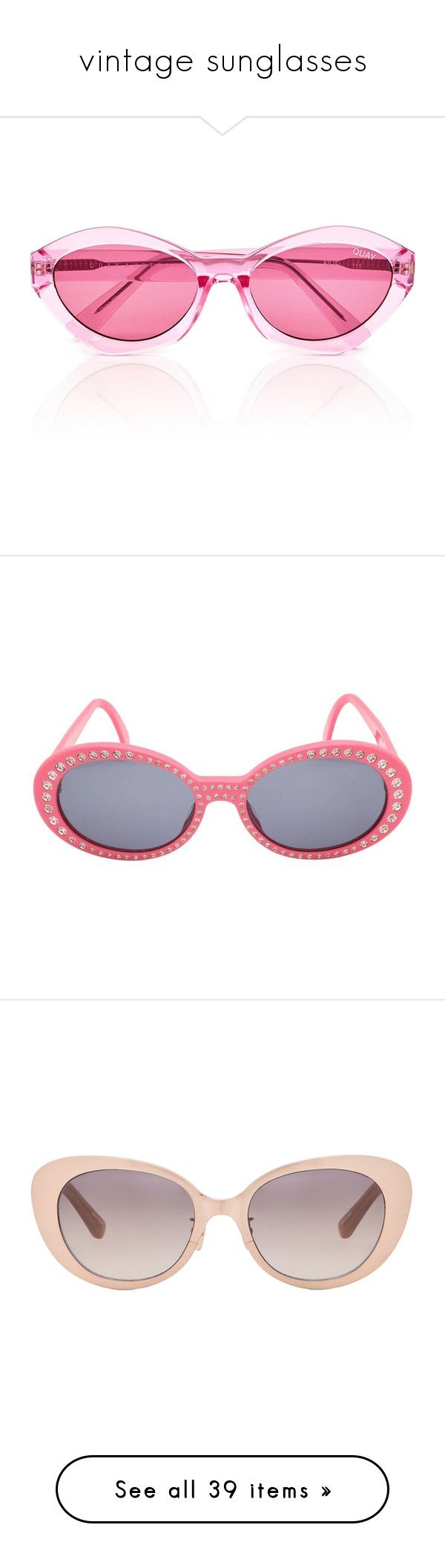 """""""vintage sunglasses"""" by marcellamic ❤ liked on Polyvore featuring accessories, eyewear, sunglasses, light pink, quay glasses, light pink glasses, cat eye sunnies, cateye sunglasses, cat eye glasses and pink"""