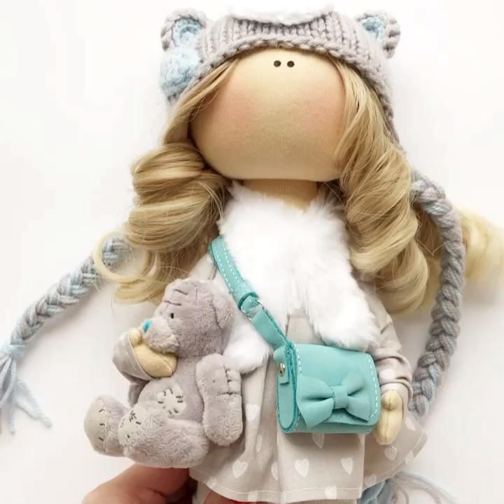 10 Tilda Doll Tutorial Nursery Doll Body Sewing Unicorn Rag Doll Body Interior Art Doll Handmade Sewing Pattern Doll Body 26 cm