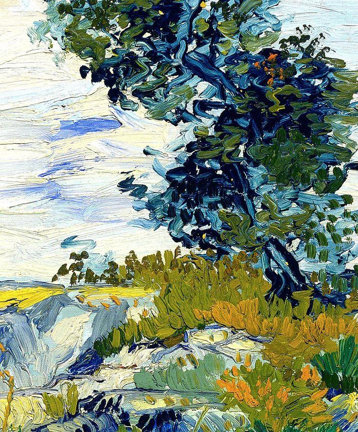 Vincent Van Gogh; detail of The Rocks. - ✯ http://www.pinterest.com/PinFantasy/arte-~-pintura-v-van-gogh/