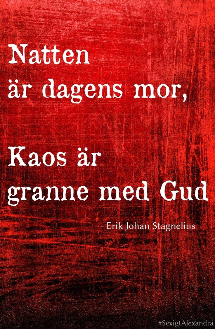 """Ur dikten """"Vän! - i förödelsens stund"""" av Erik Johan Stagnelius (1793-1823) // SexigtAlexandra"""