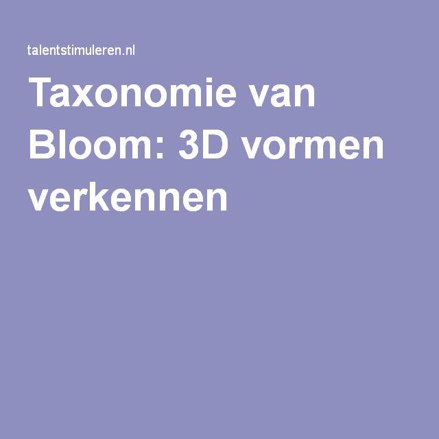 Taxonomie van Bloom: 3D vormen verkennen