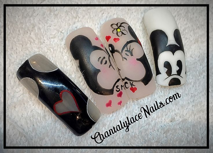 mickey and minne nail art Mickey  Mouse