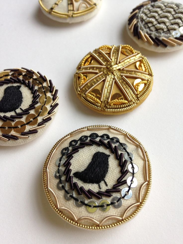 Metalwork Button Brooches Inspired by 17th Century Designs ~ RSN class led by Becky Hogg
