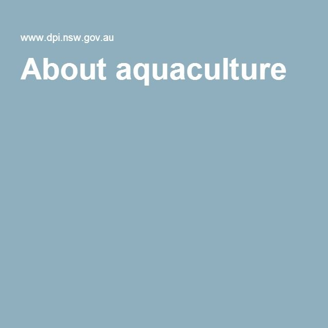 About aquaculture