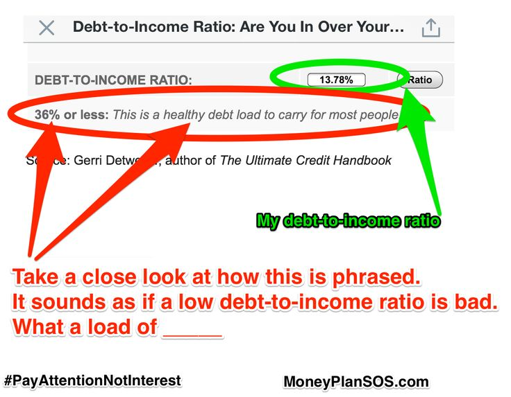 healthy debt to income ratio business plan
