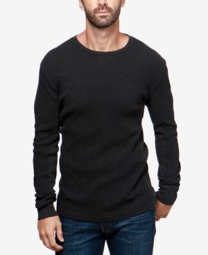 Lucky Brand Men's Lived In Thermal T-Shirt - Black 2XL