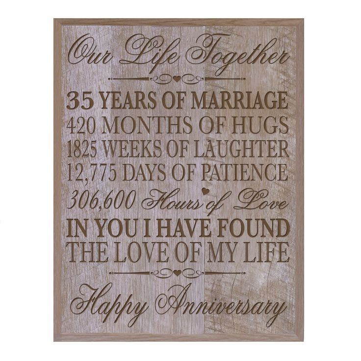 35th Wedding Anniversary Wall Plaque Gifts for Couple,custom Made 35th Anniversary Gifts for Her Wall Plaque Special Dates to Remember By Dayspring Milestones (Barnwood)